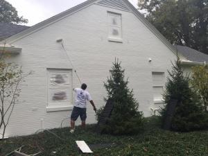 exterior painting in progress
