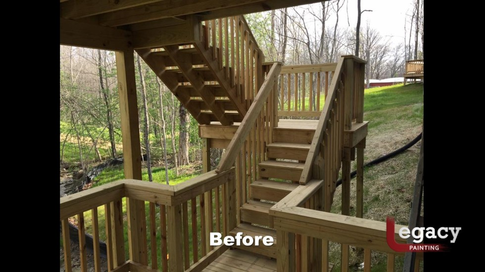 Solid Color Deck Staining Indianapolis 2
