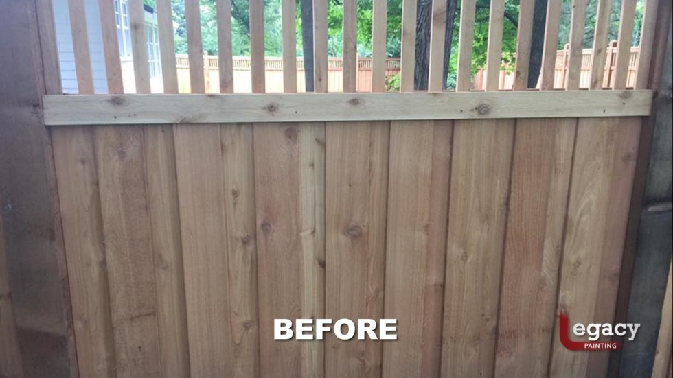 New Decorative Fence Staining 1