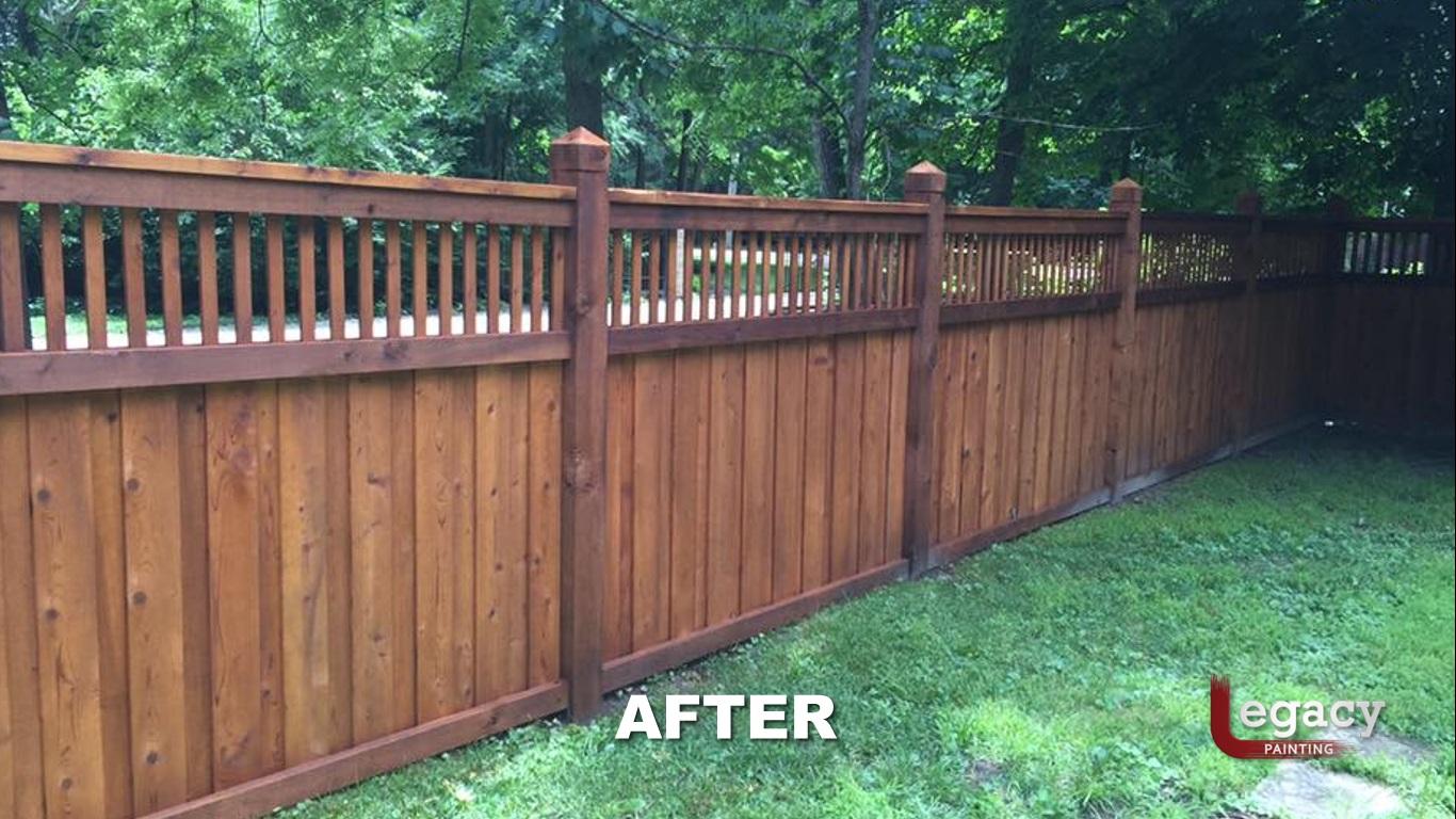 Decorative Fence Staining