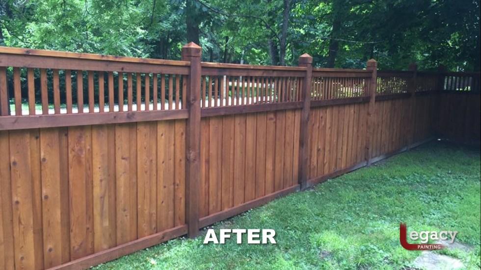 New Decorative Fence Staining