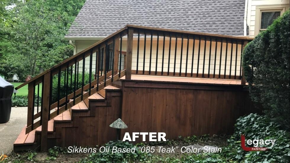 Carmel New Deck Staining - Teak 11