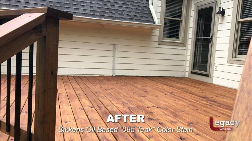 Carmel New Deck Staining - Teak 8