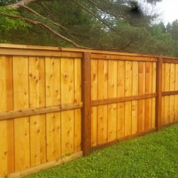 fence staining 2