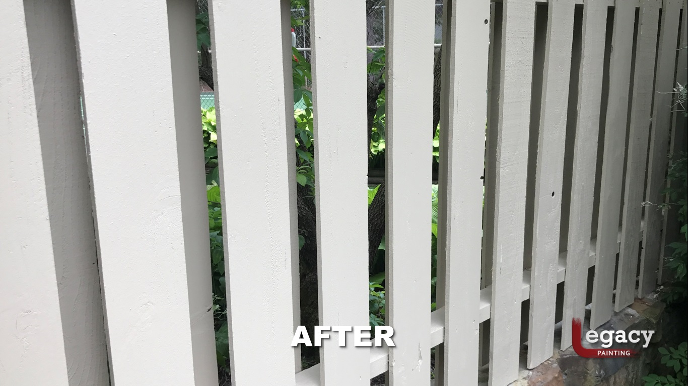 Solid Color Fence Staining