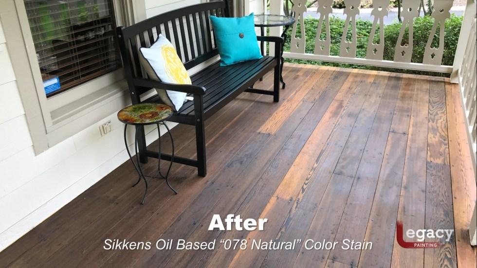Redwood Deck Staining - Carmel Indiana 2