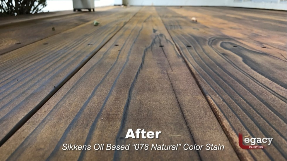 Redwood Deck Staining - Carmel Indiana 3