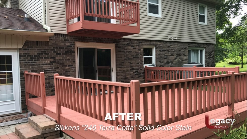 Deck Coating Replaced With Solid Stain 11