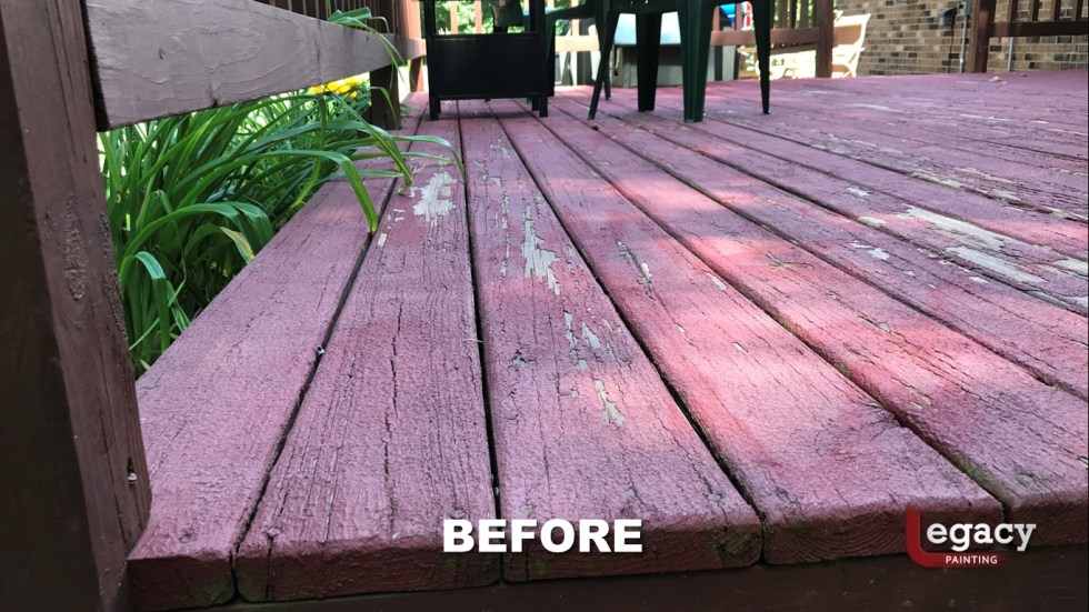 Deck Coating Replaced With Solid Stain 5