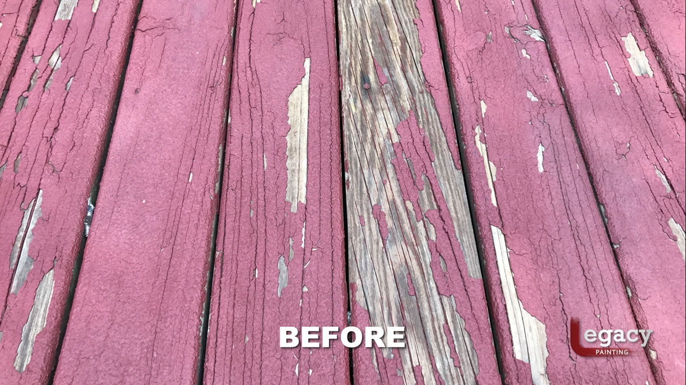 Deck Coating Removal And Staining