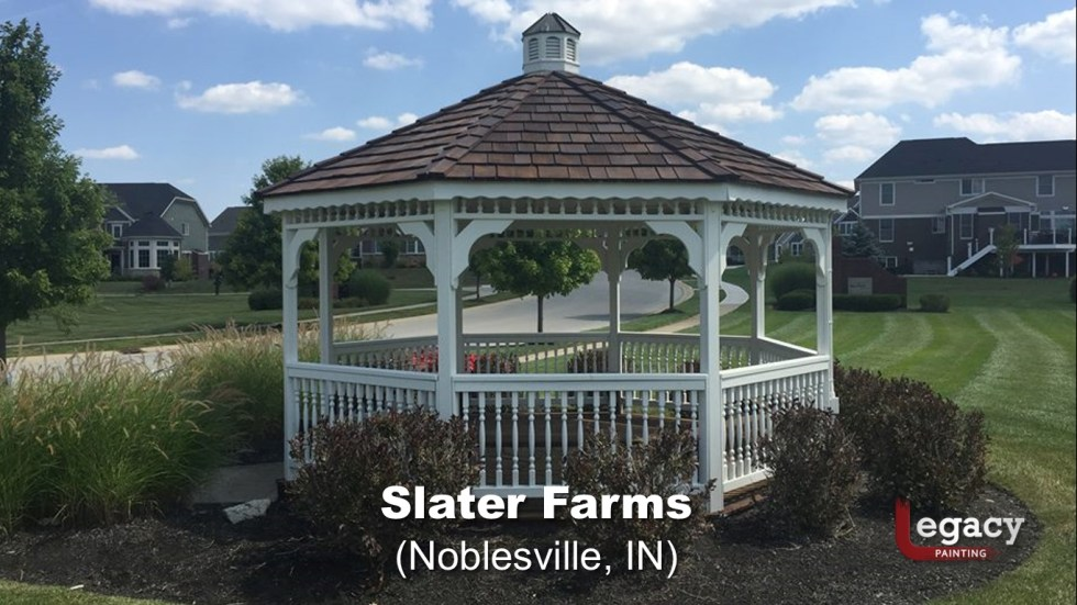 Commercial Gazebo Fence Staining Painting - Noblesville 5