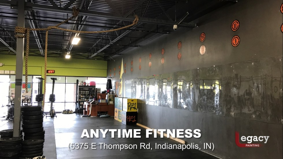 Commercial Painting Services - Anytime Fitness Indianapolis 10