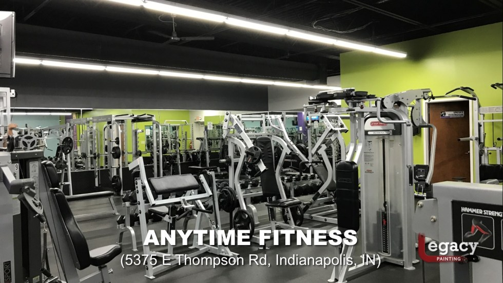 Commercial Painting Services - Anytime Fitness Indianapolis 3