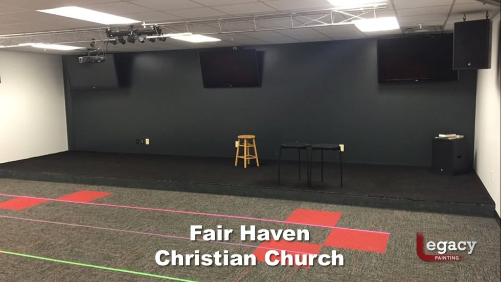 Interior Commercial Painting - Fair Haven Church 2