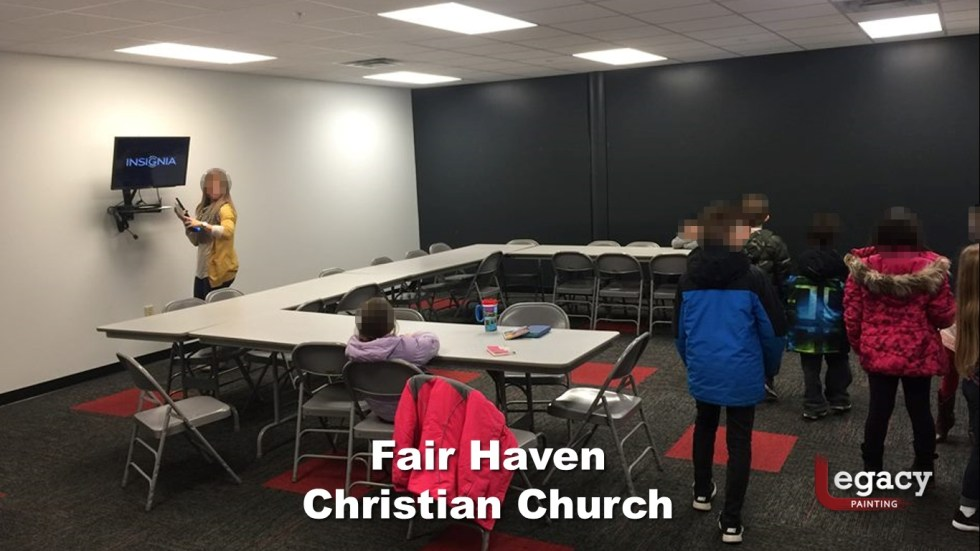 Interior Commercial Painting - Fair Haven Church 5