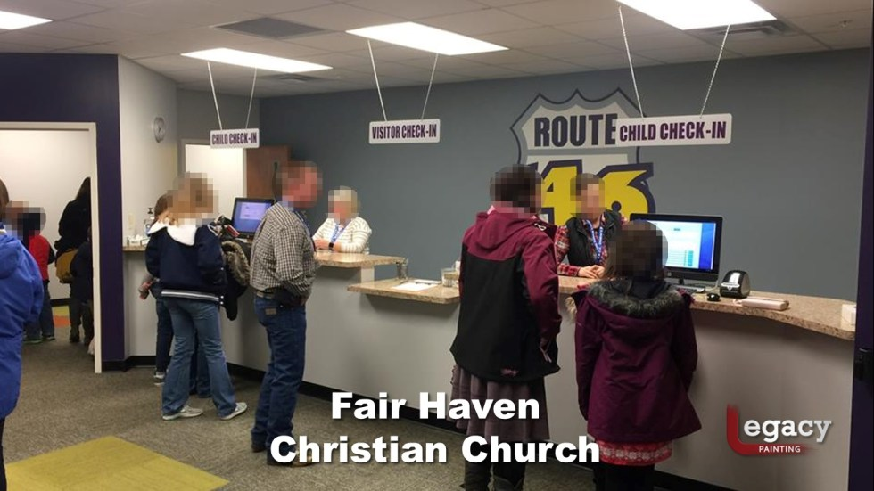 Interior Commercial Painting - Fair Haven Church 6