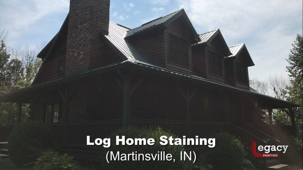 Log Home Staining - Martinsville Indiana 4