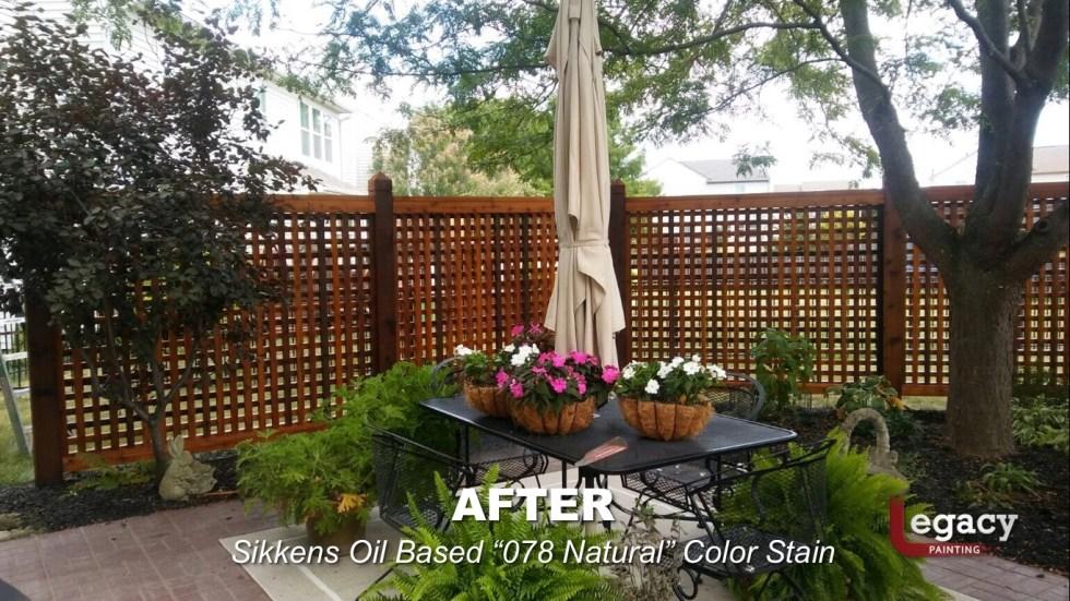 Decorative Cedar Fence Staining Contractor - Carmel Indiana 5
