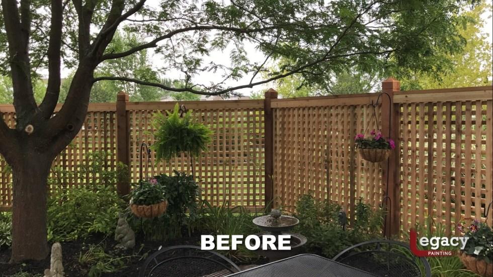 Decorative Cedar Fence Staining Contractor - Carmel Indiana