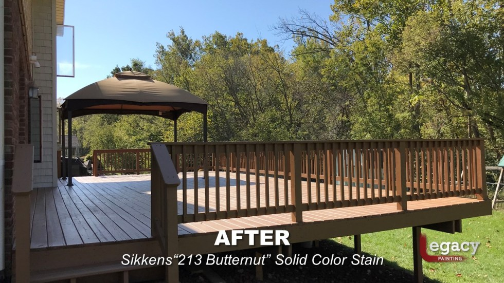 Plainfield Deck Staining - Butternut - Slide2