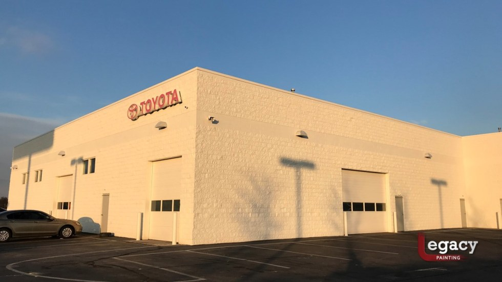 Commercial Painting - Muncie Toyota 7