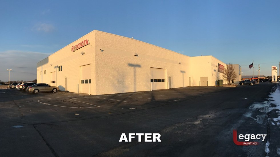 Commercial Painting - Muncie Toyota 9