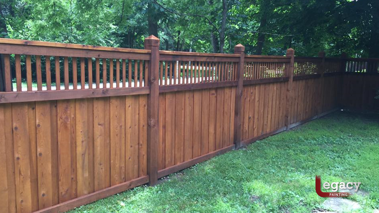 transparent wood fence staining