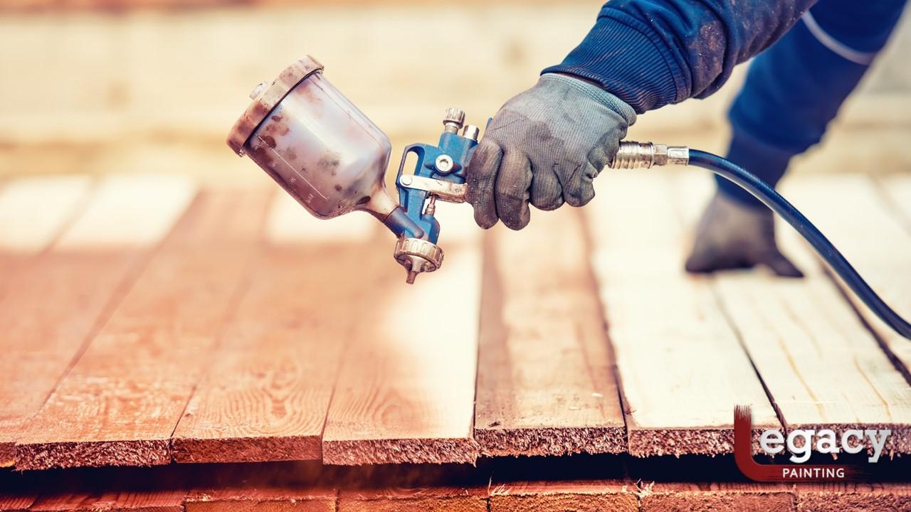 Deck Staining – Spray, Roll or Brush