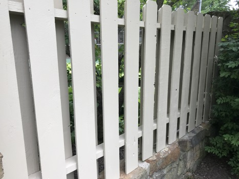 shadow box fence staining