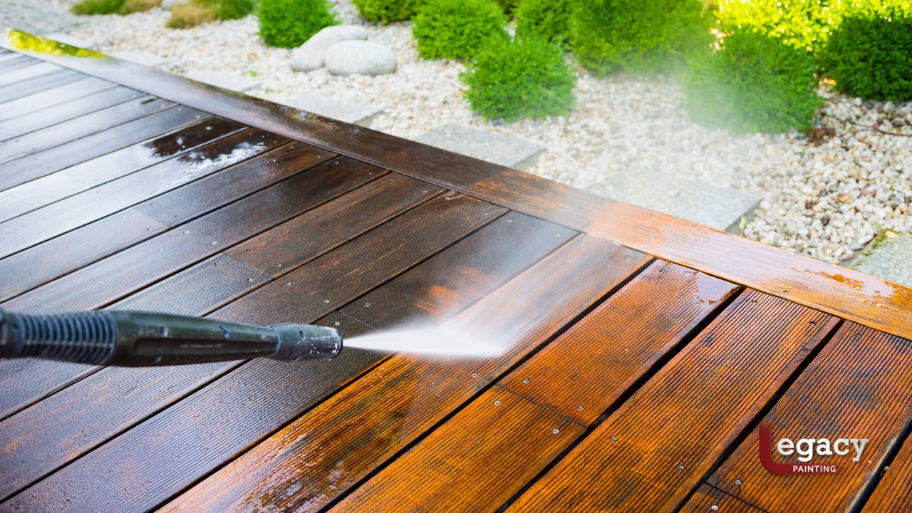 Pressure Wash A Deck Before Staining