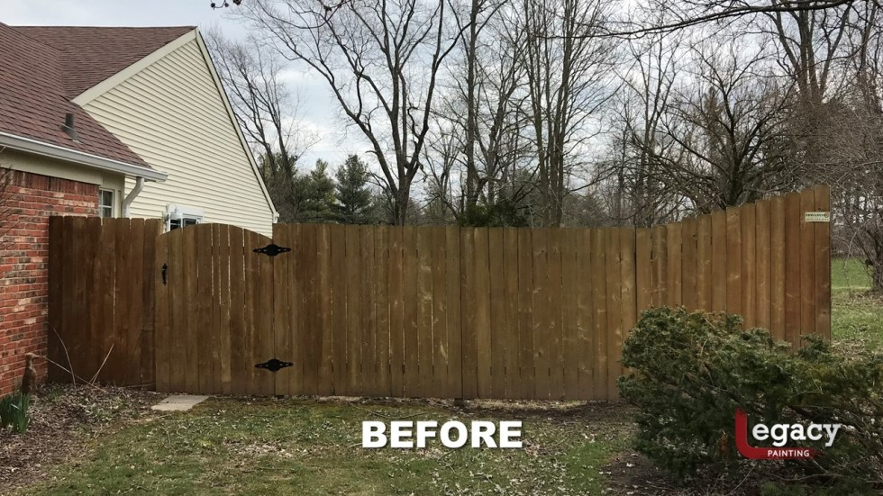 Fence Staining - Proluxe Chestnut Brown Solid Stain - Fishers In 1