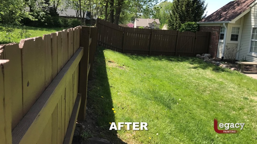 Fence Staining - Proluxe Chestnut Brown Solid Stain - Fishers In 4