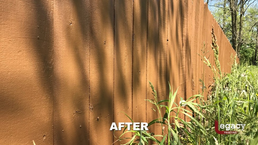Fence Staining - Proluxe Chestnut Brown Solid Stain - Fishers In 6