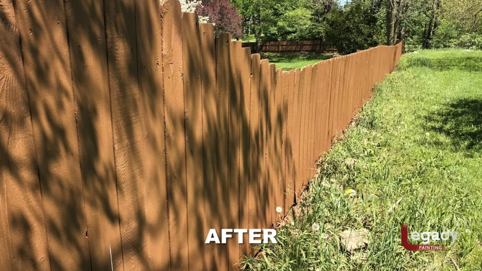 Fence Staining - Proluxe Chestnut Brown Solid Stain - Fishers In 8