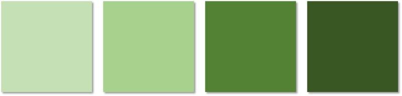 interior painting - greens