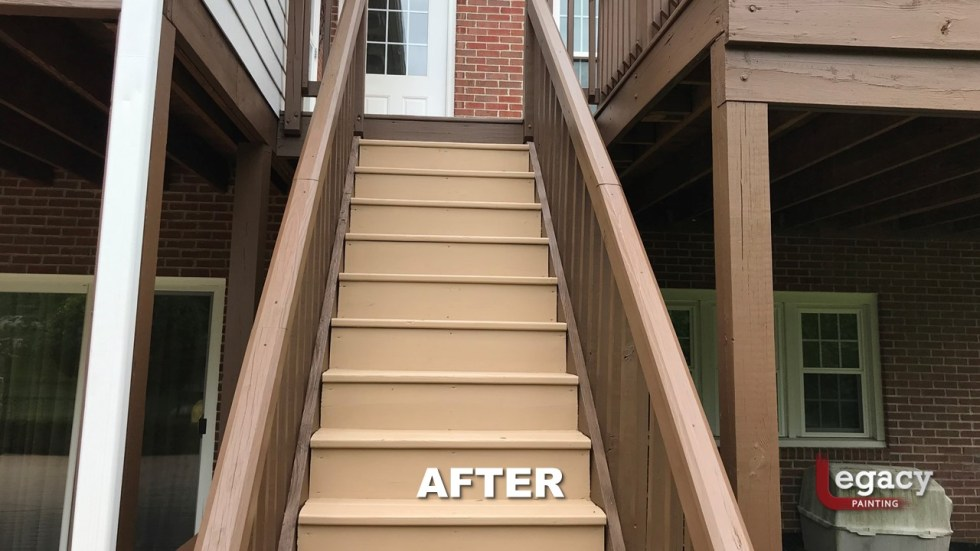 Center Grove Deck Staining - 2 Color Solid Stain