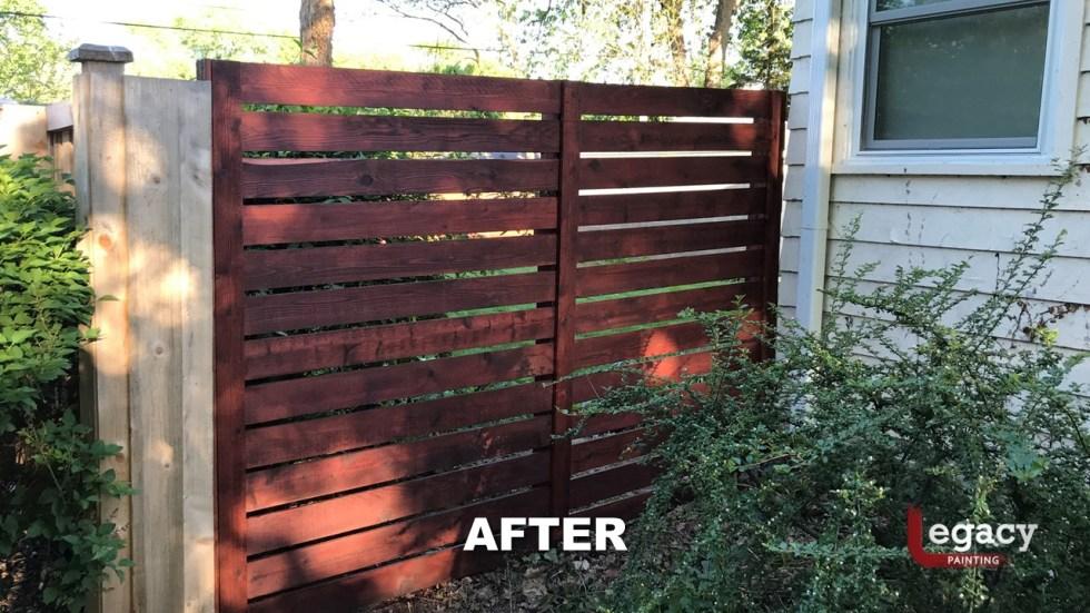 Indianapolis Fence Staining - Mahogany 045