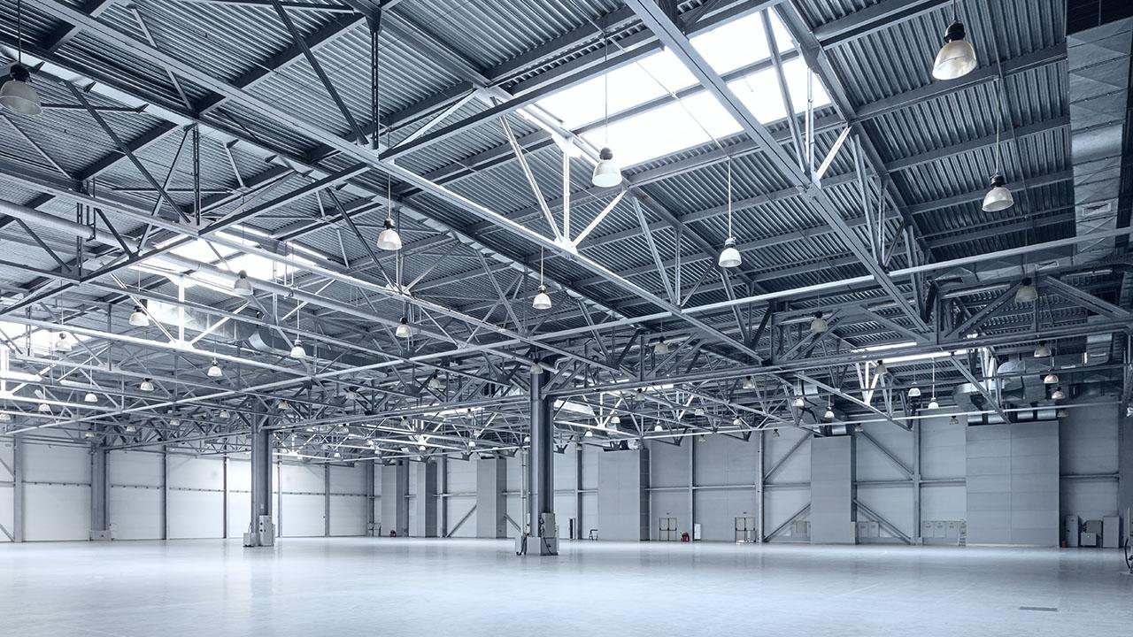 warehouse distribution center interior painting indianapolis