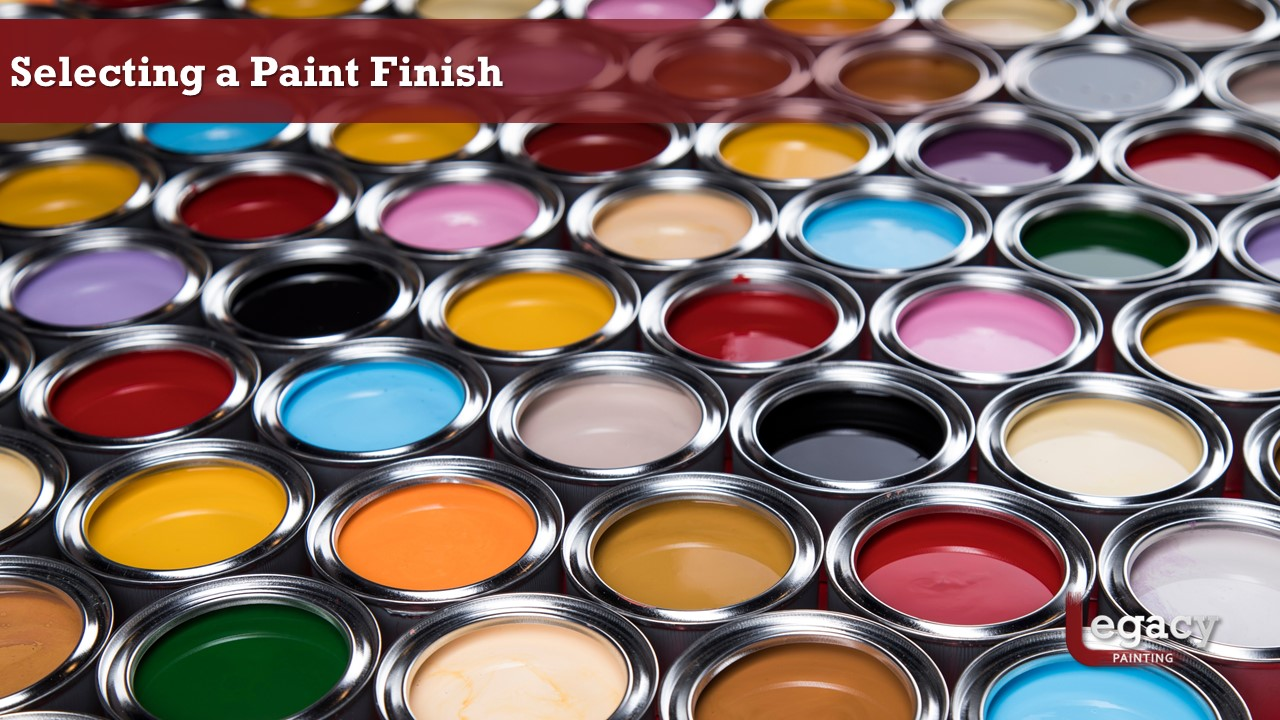 Selecting Interior Paint Finish