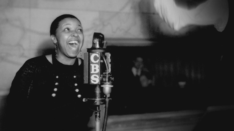 Bessie Smith Behind a CBS Radio Mic