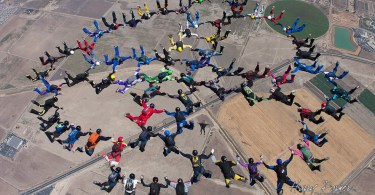 Large Completed Skydive Formation, photo by Harry Parker Photograhy