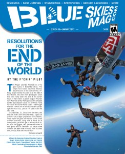"""Blue Skies Magazine i39: January 2012   VFS world champions Raphaël Coudray, Frederic Nenet, Nicolas Ratier, Julien Guiho and Yannick Poletti of the French """"Team4Speed"""" during the 2012 World Parachuting Championships in Dubai. Photo by Rolf Kuratle, EAA.   blueskiesmag.com"""