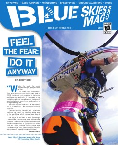 Blue Skies Magazine October 2014 cover