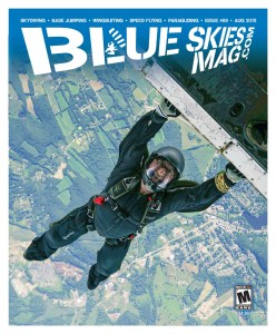 i68: August 2015   Steve Villardi hanging out above Skydive Sussex, NJ, during their That's How We Roll 2 boogie. Photo by David Cherry.   blueskiesmag.com