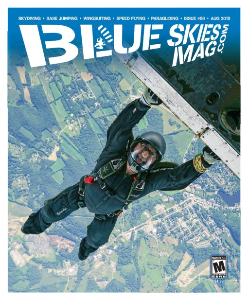 i68: August 2015 | Steve Villardi hanging out above Skydive Sussex, NJ, during their That's How We Roll 2 boogie. Photo by David Cherry. | blueskiesmag.com