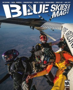 Blue Skies Magazine i85: January 2017   Ana Aponte smiles as she exits with Stacy Powers, Cathy O'Sullivan, Ekaterina Taldonova and Laura Golly during the Women's Vertical World Record attempts held at Skydive Arizona. Photo by Norman Kent normankent.com   https://blueskiesmag.com/project/i85-january-2017
