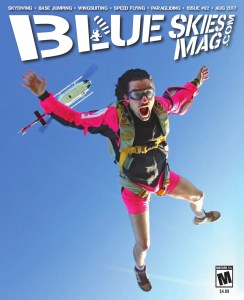 Blue Skies Magazine i92: August 2017   On the cover: The neon sit-suit makes a comeback as Lawrence de Laubadere exits a helicopter above Chicagoland Skydiving Center. Photo by Becky Johns.   https://blueskiesmag.com/project/i92-august-2017/