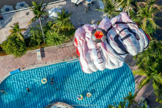 Team ILL Vision owning airspace pool side. - Team ILL Vision hosts the Acapulco BASE Boogie off the La Palapa hotel - Promoting tourism through Low Altitude Parachute Deployment Demonstration Jumping - Harry Parker Photography - Reflecting the best of your business, product, self.