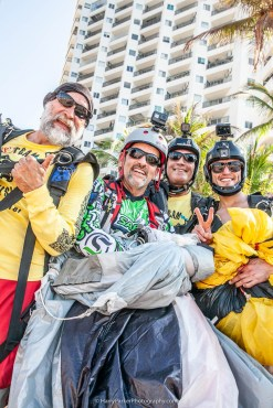 Smiley from CANN BASE in Mexico with his students and Ed Trick - Team ILL Vision hosts the Acapulco BASE Boogie off the La Palapa hotel - Promoting tourism through Low Altitude Parachute Deployment Demonstration Jumping - Harry Parker Photography - Reflecting the best of your business, product, self.