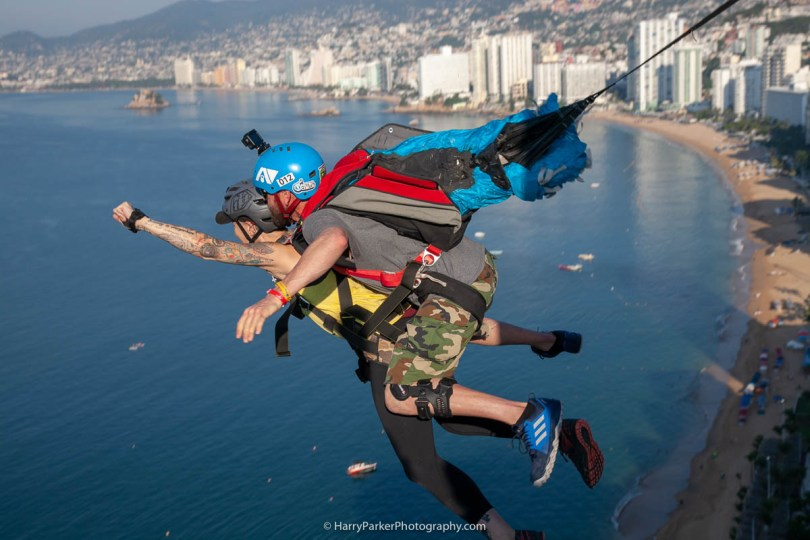 Team ILL Vision hosts the Acapulco BASE Boogie off the La Palapa hotel - Promoting tourism through Low Altitude Parachute Deployment Demonstration Jumping - Harry Parker Photography - Reflecting the best of your business, product, self.